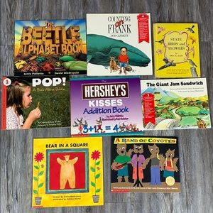 7 Math Science Themed Children's Book Bundle